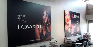 Impressão em Canvas para salão de beleza