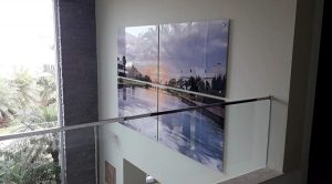 Impressão de foto em quadro grande