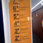 sinalização placa indicativa andares